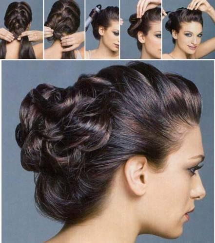 Схема плетения косы на длинные