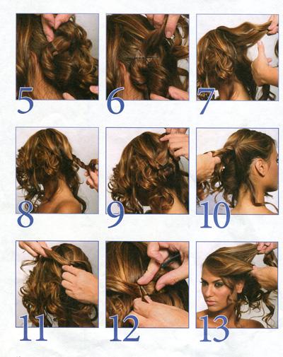 Прическа на длинные волосы кудри своими руками