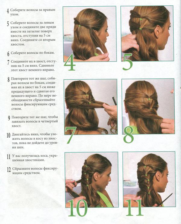 Модные прически из кос с инструкцией