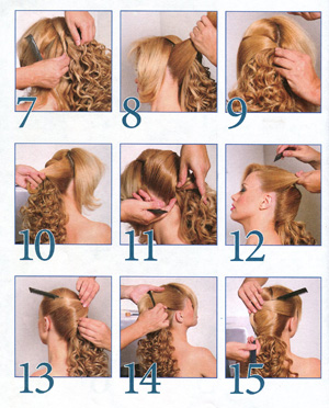 Поэтапное описание прически на длинные волосы6