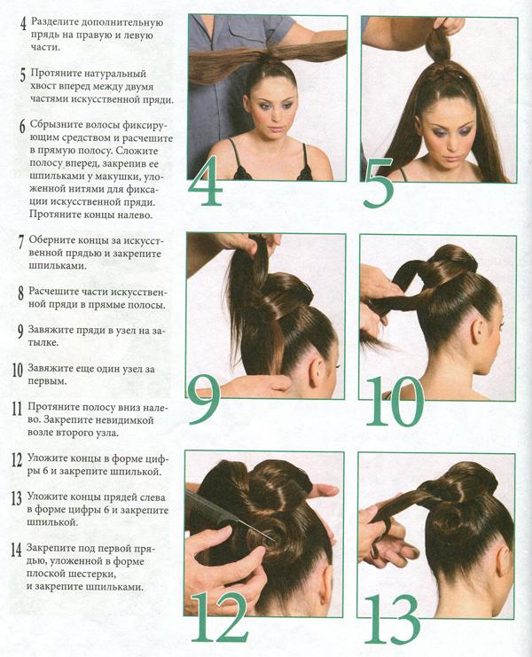 Как сделать пучок из волос своими руками