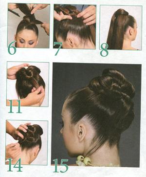 Повседневная прическа на длинные волосы своими руками